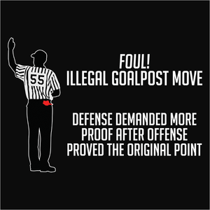 Moving the Goalpost Logical Fallacy - (DSN-20061)