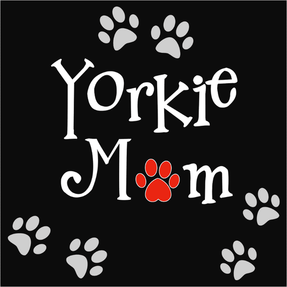 Yorkie Mom Heart - (DSN-10674)