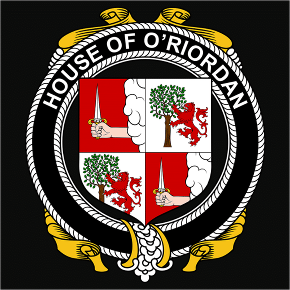 Irish House Heraldry O'Riordan - (DSN-15485)
