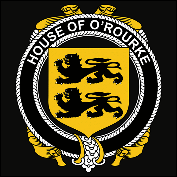 Irish House Heraldry O'Rourke - (DSN-15486)