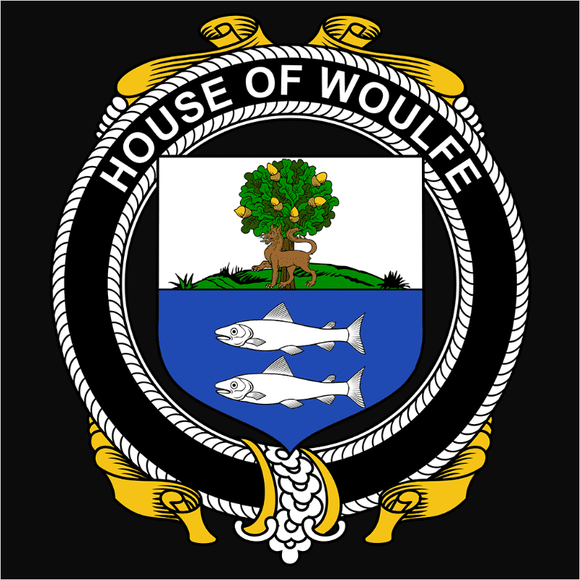 Irish House Heraldry Woulfe - (DSN-15510)