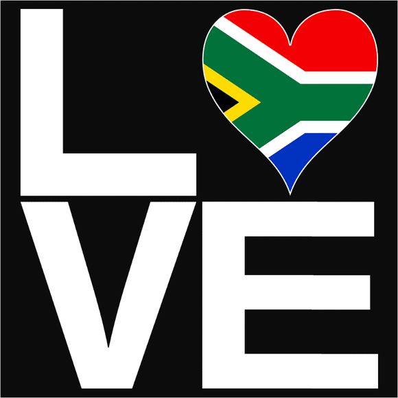 Love Block South Africa Heart - (DSN-18623)