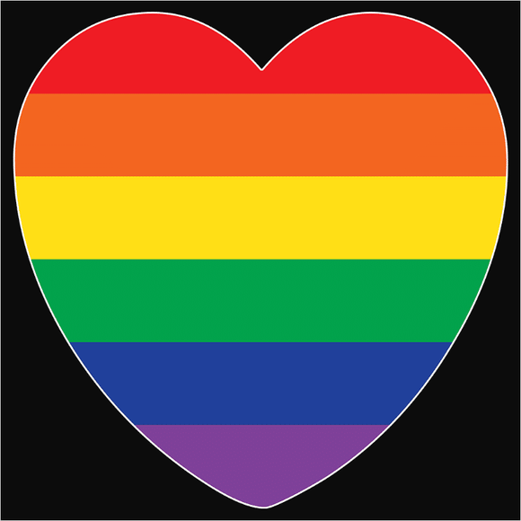 Pride Rainbow Heart Flag - (DSN-10681)