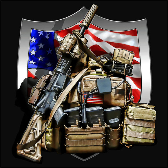 Military Pack & Weapons - (DSN-10413)