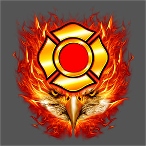 Flaming Eagle Head - (DSN-10422)