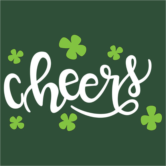 St. Patty's Day Cheers Clover - (DSN-17968)