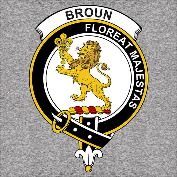 Scottish Clan Crest Badge Broun - (DSN-11931)