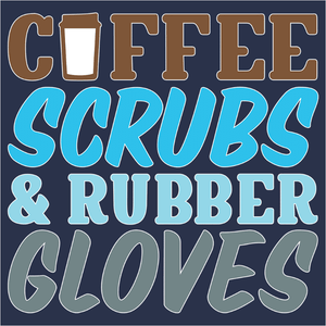 Coffee Scrubs and Rubber Gloves - (DSN-14910)