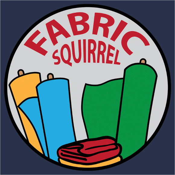 Fabric Squirrel Badge - (DSN-20104)