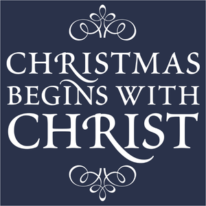 Elegant Christmas Begins With Christ - (DSN-14890)