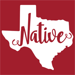 Texas Home State Native Script - (DSN-15191)