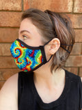 Two Layer Fully Wired Protective Cloth Face Mask - Made in USA - Classic Tie-Dye, Adult