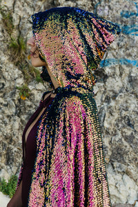Pink Dragon Sequin Cape - Junglade Designs