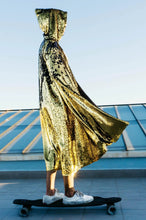 Load image into Gallery viewer, Golden Lizard Sequin Cape - Junglade Designs