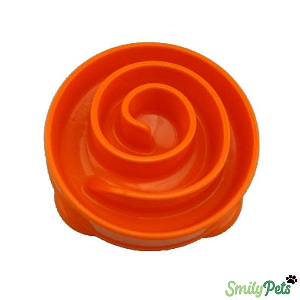 Gamelle anti-glouton - Orange