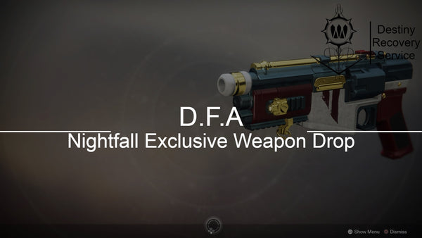 D.F.A Nightfall Exclusive Weapon Drop - Destiny 2 Trials of Osiris Spare | DestinyRecoveryService | Destiny Recovery Service | Season of Arrivals | Shadowkeep |
