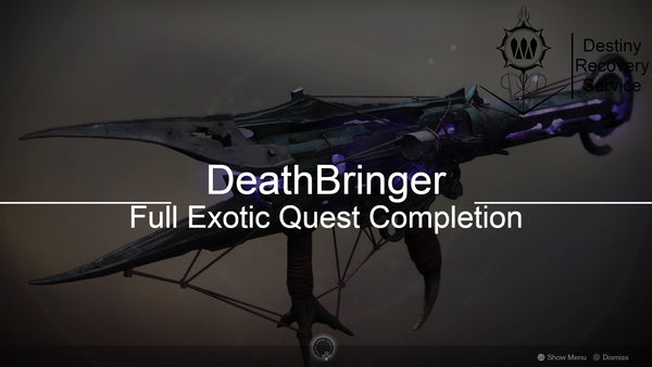 Deathbringer Exotic Quest Completion - Destiny 2 Trials of Osiris Spare | DestinyRecoveryService | Destiny Recovery Service | Season of Arrivals | Shadowkeep |