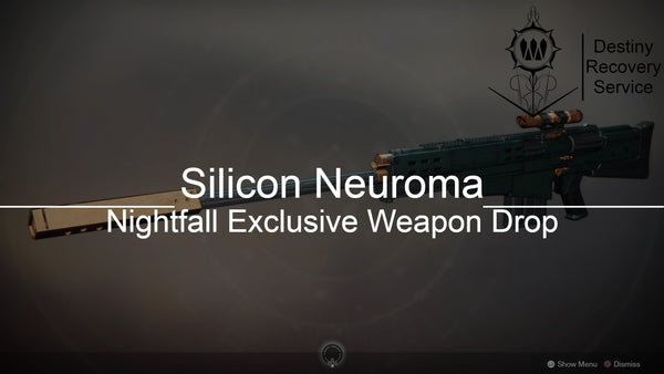 Silicon Neuroma Nightfall Exclusive Weapon Drop - Destiny 2 Trials of Osiris Spare | DestinyRecoveryService | Destiny Recovery Service | Season of Arrivals | Shadowkeep |
