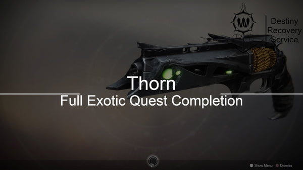 Thorn Exotic Quest Completion - Destiny 2 Trials of Osiris Spare | DestinyRecoveryService | Destiny Recovery Service | Season of Arrivals | Shadowkeep |
