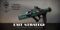 Exit Strategy Full Ritual Quest Completion - Destiny 2 Trials of Osiris Spare | DestinyRecoveryService | Destiny Recovery Service | Season of Arrivals | Shadowkeep |