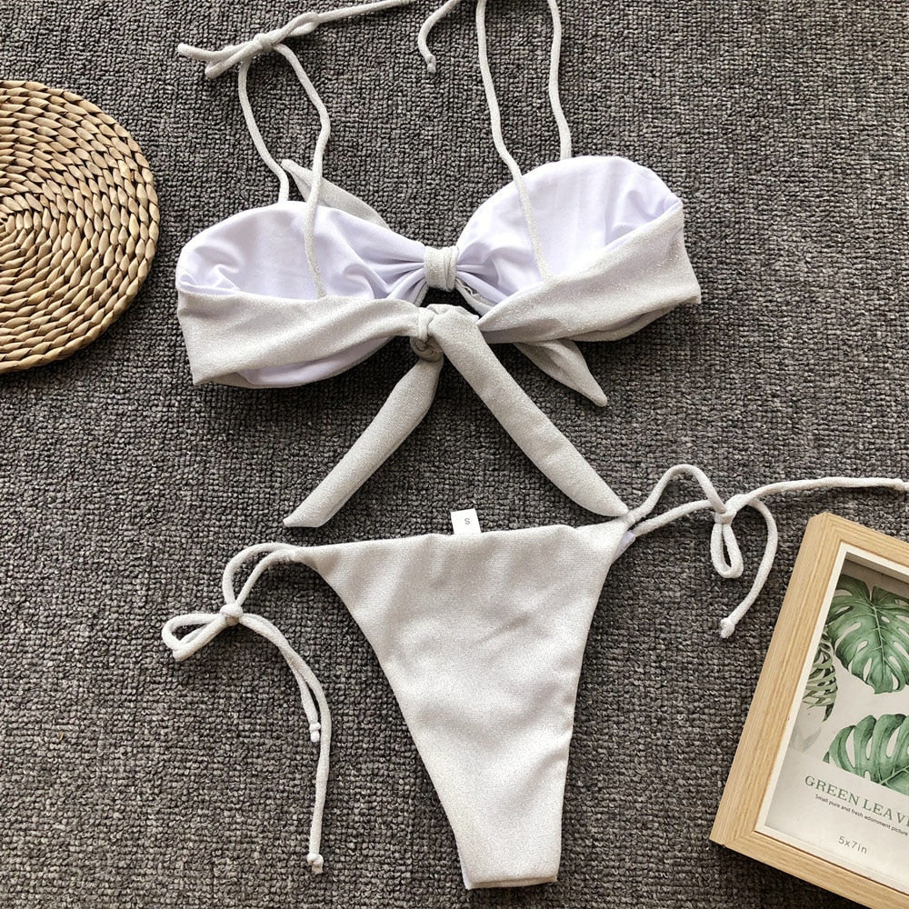 Pretty Bow Knot Two-Piece Bikini