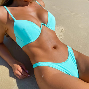 A Push-Up Life Two-Piece Bikini Set