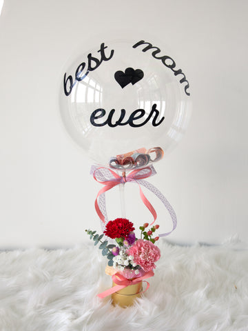 Carnation with balloon