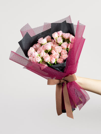 Pink spray roses bouquet