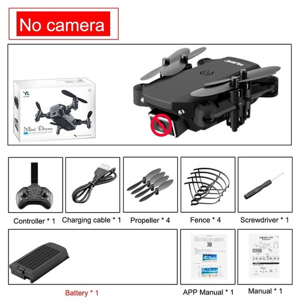 2020 new mini RC drone 4K HD camera WiFi Fpv air pressure altitude maintenance 15 minutes battery life foldable Quadcopter toy