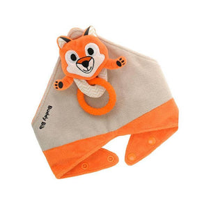 NEW! 3-in-1 Baby Bibs with Animal Teether Toy