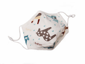Toddler Premium Cotton Mask with Filter Pocket Nose Wire Adjustable Ear Loops