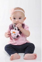 Load image into Gallery viewer, NEW! 3-in-1 Baby Bibs with Animal Teether Toy