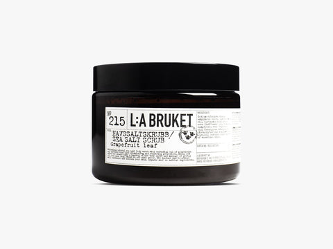 L:A Bruket 215 Sea Salt Scrub, Grapefruit Leaf, 420g