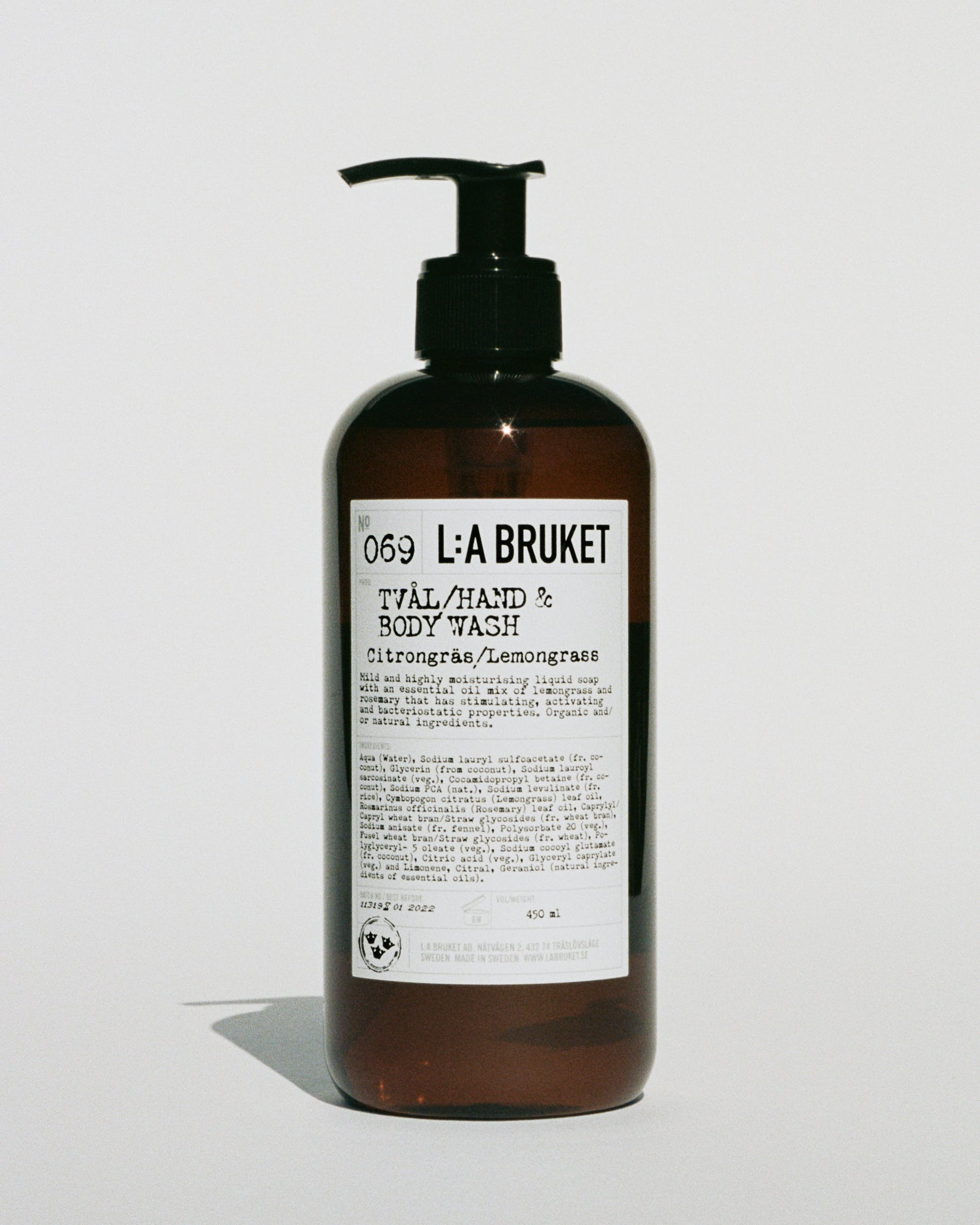 L:A Bruket 069 Hand & Body Wash Citrongræs/Lemongræs, 450ml