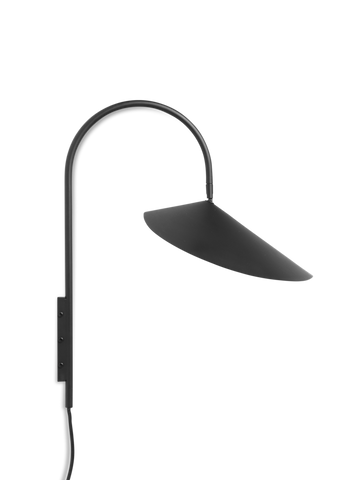 Ferm Living, Arum Wall Lamp, Black, 25x47x44cm