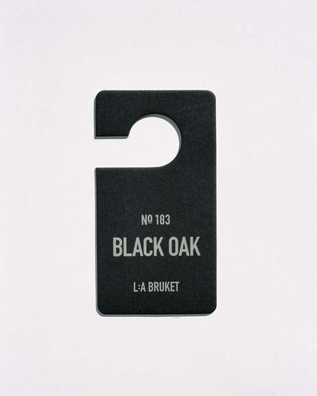 L:A Bruket 183 Fragrance Tag, Black Oak, 15x8cm