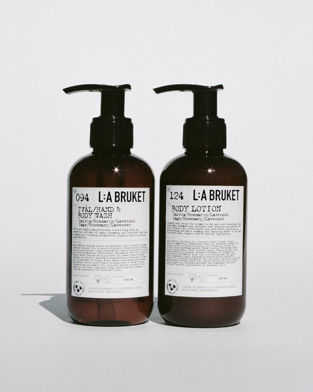 L:A Bruket 208 Duo Kit, håndsæbe og bodylotion, 2x200ml