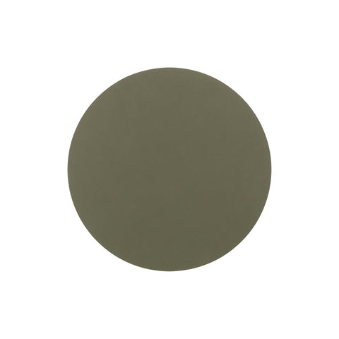 LIND DNA Glasbrik Mat Circle, Nupo Læder, Army Green