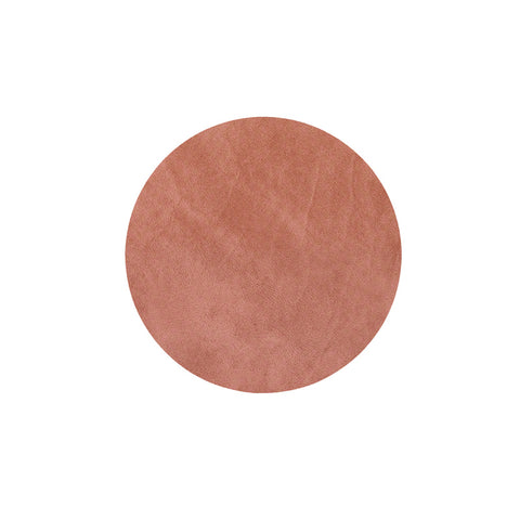 LIND DNA Glasbrik Mat Circle, Nupo Læder, Blush