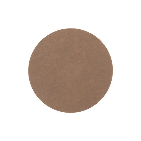 LIND DNA Glasbrik Mat Circle, Nupo Læder, Brown