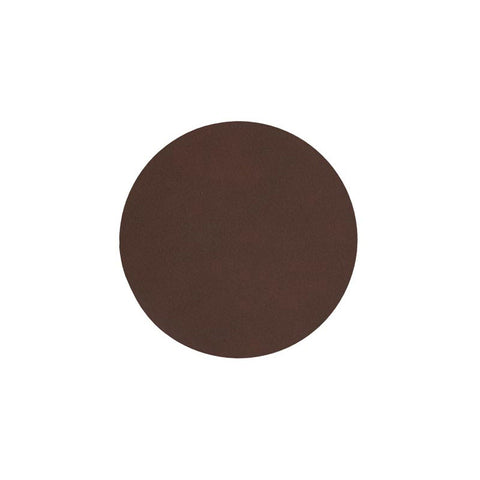 LIND DNA Glasbrik Mat Circle, Nupo Læder, Dark Brown