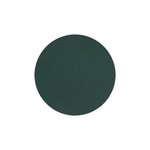LIND DNA Glasbrik Mat Circle, Nupo Læder, Dark Green