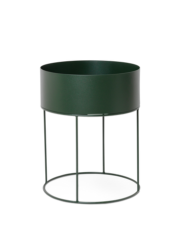 Ferm Living, Plant Box Round - Dark Green, Ø:40, H:50