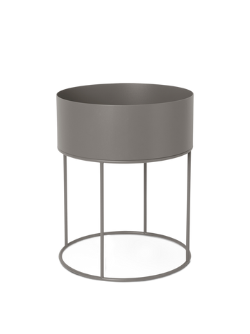 Ferm Living, Plant Box Round - Warm Grey, Ø:40, H:50