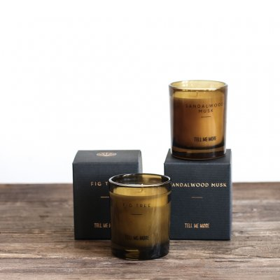 Tell Me More Scented Candle Noir S, Sandalwood Musk