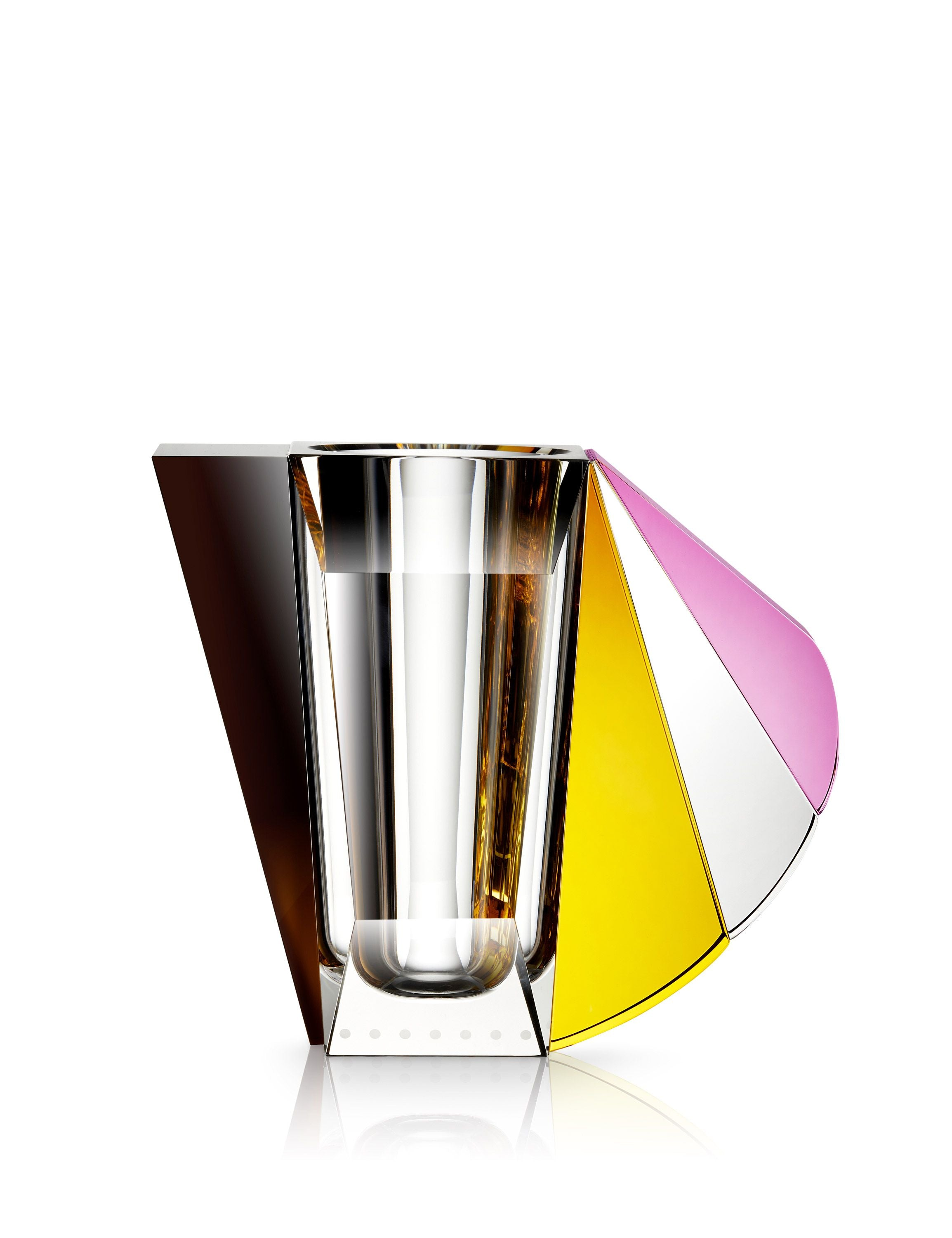 Tilbud - Reflections Copenhagen Grand Manhattan vase Brown/Rose/Clear/Yellow