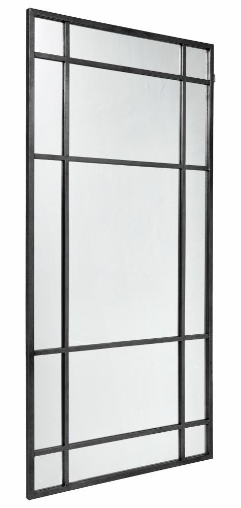 Nordal Spirit Iron Wall Mirror, Sort Jern, 204x102cm