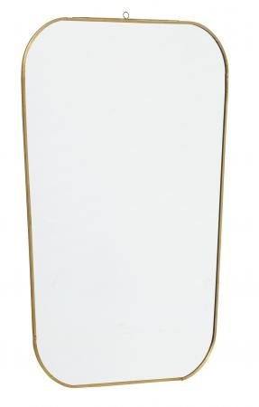 Nordal Mirror, square w/rounded edges, golden