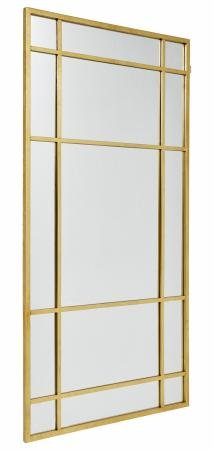 Nordal SPIRIT Iron Wall Mirror, Gold, 204x102 cm
