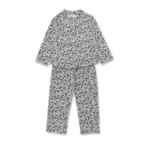 Studio Feder - Pyjamas Child - Floral Blue Size 2-3 Years